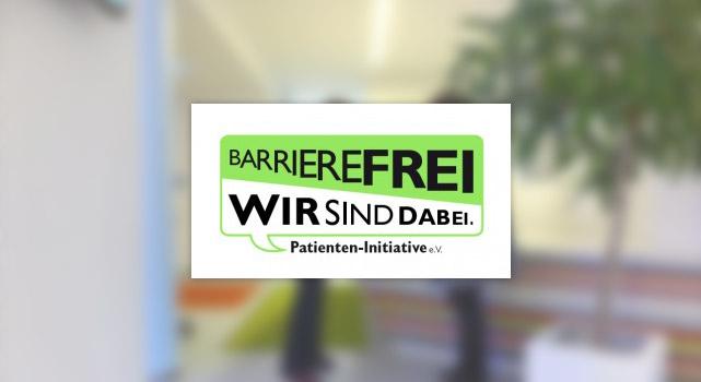 Logo: Barrierefrei.Wir sind dabei