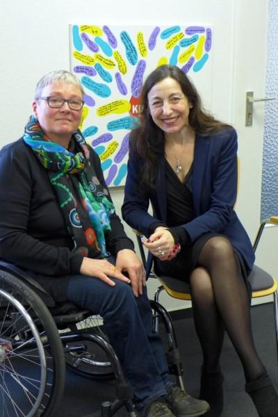 Kerstin Hagemann und Frau Vértes-Schütter
