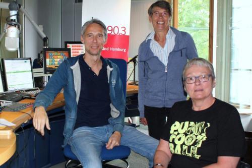 Stefan Heller, Karen Müller und Kerstin Hagemann beim BDR im Studio