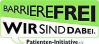 Logo Barrierefrei. Wir sind dabei.